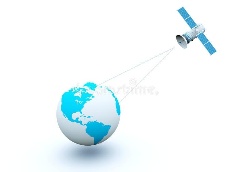 蓝色地球卫星 皇族释放例证