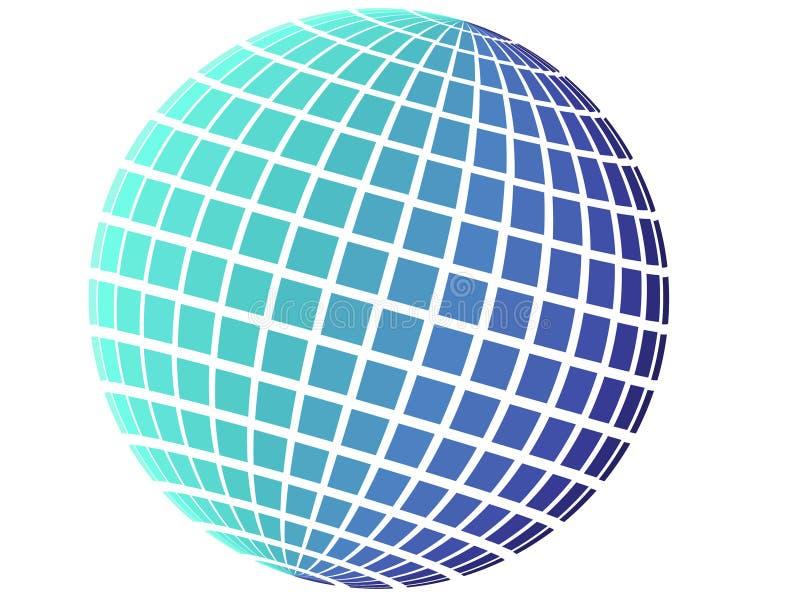 蓝色地球模式正方形 皇族释放例证