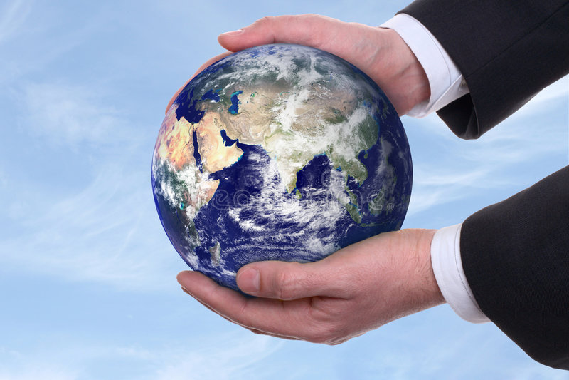 蓝色地球现有量 免版税库存图片