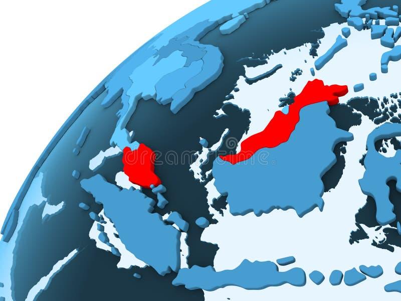 蓝色地球的马来西亚 皇族释放例证