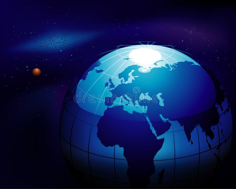 蓝色地球 库存例证