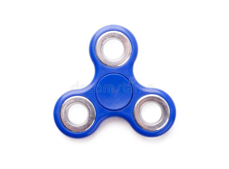 蓝色坐立不安锭床工人反重音玩具 免版税库存图片