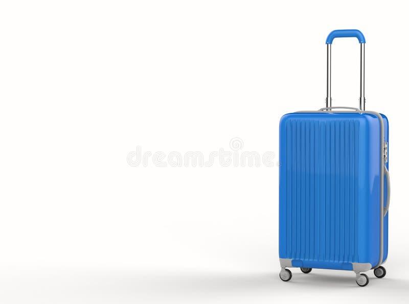 蓝色坚硬案件行李 向量例证