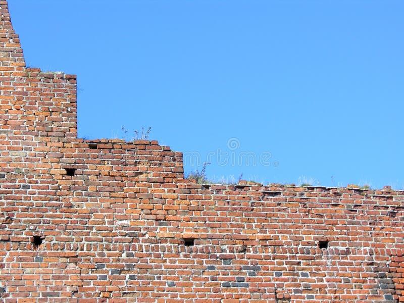 蓝色城堡天空墙壁 库存照片