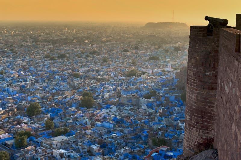 蓝色城市印度乔德普尔城拉贾斯坦 图库摄影
