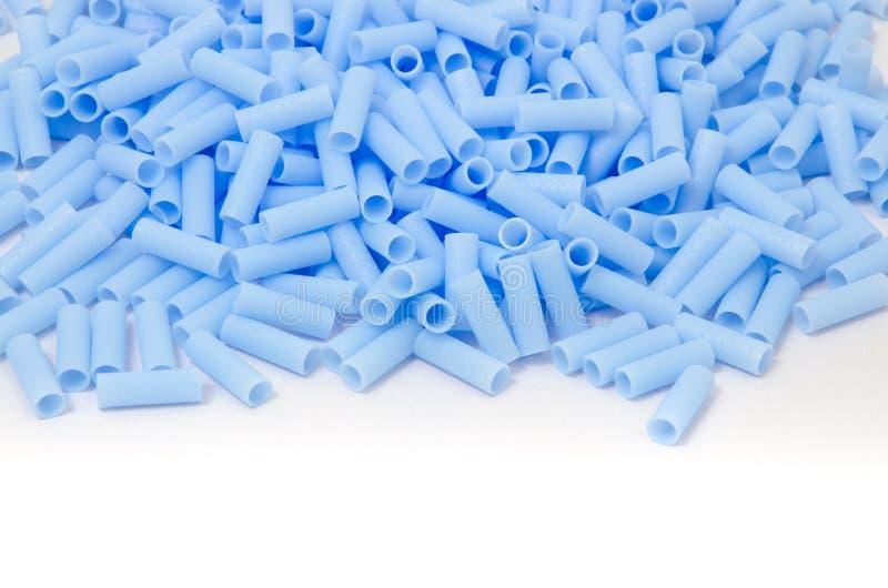 蓝色塑料小珠 库存照片