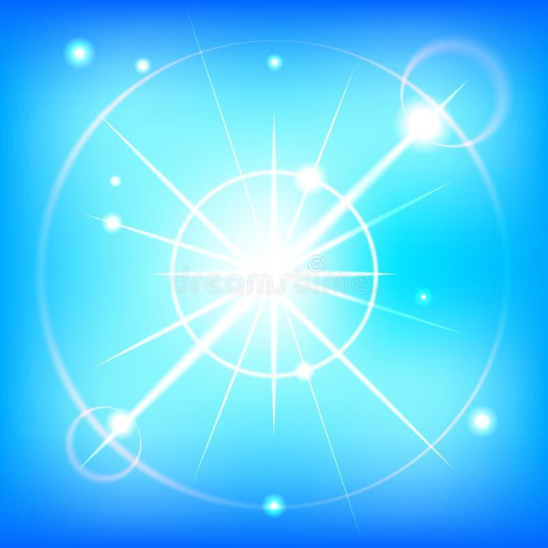 蓝色夏天天空-编辑可能的向量图形 免版税库存照片