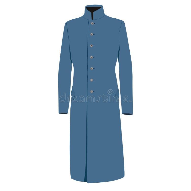 蓝色外套 向量例证