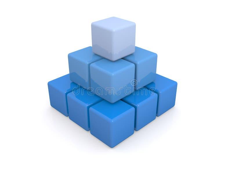 蓝色多维数据集或块 皇族释放例证