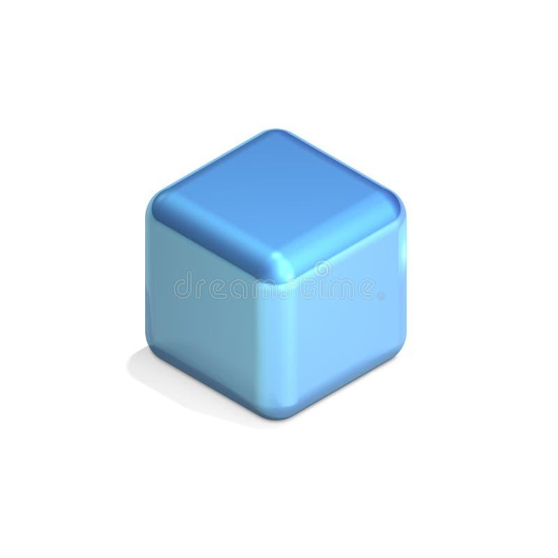 蓝色多维数据集 向量例证