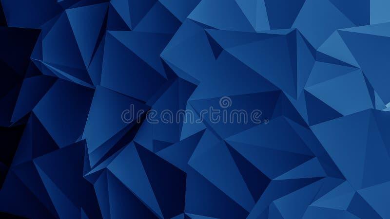 蓝色多角形背景 库存例证