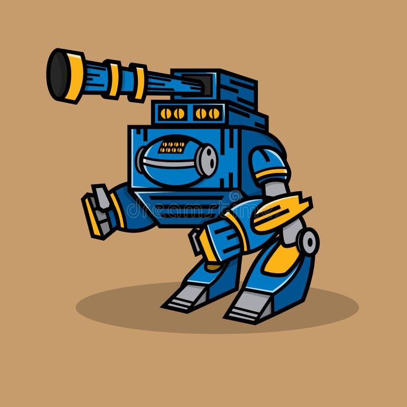 蓝色大炮机器人 向量例证