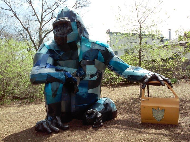 蓝色大猩猩 免版税库存照片