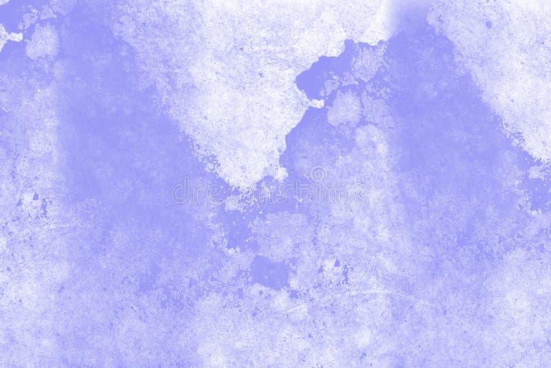 蓝色大理石作用纹理 免版税库存图片