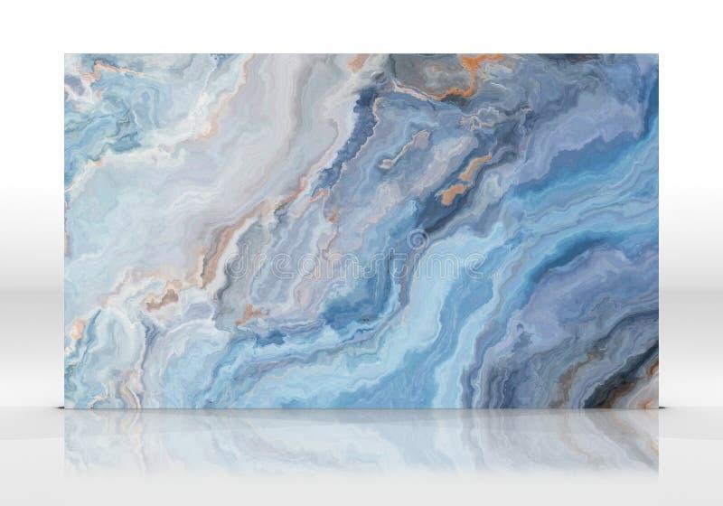 蓝色大理石瓦片纹理 向量例证