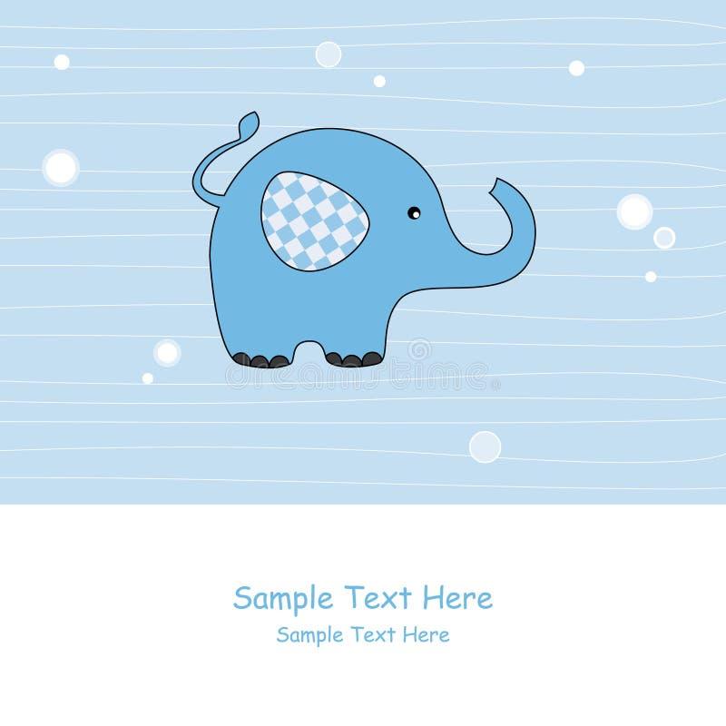 蓝色大象 向量例证