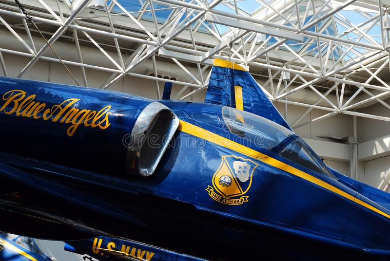 蓝色天使喷气机 库存照片
