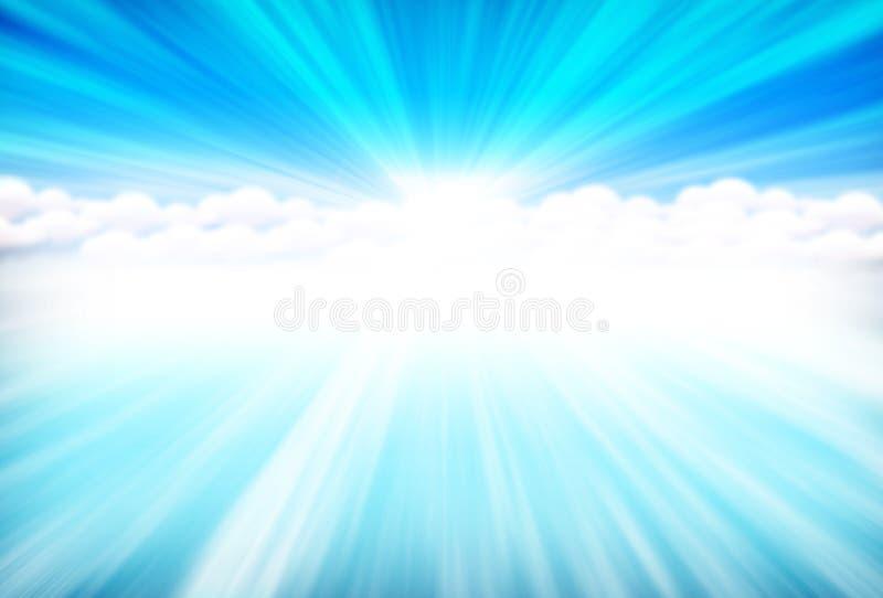 蓝色天堂 库存例证