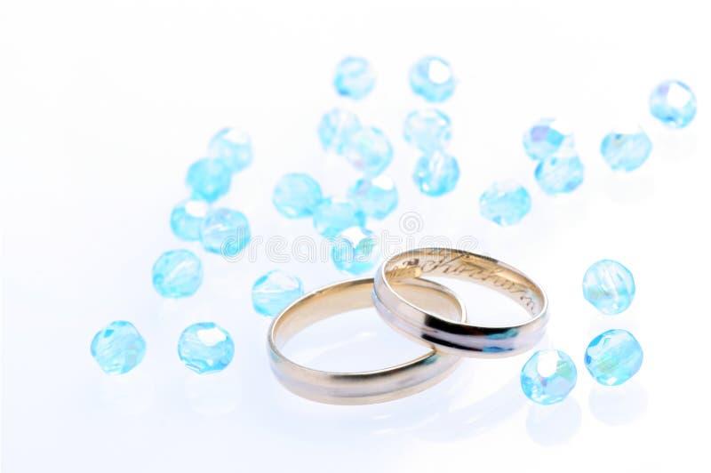 蓝色婚礼 库存照片