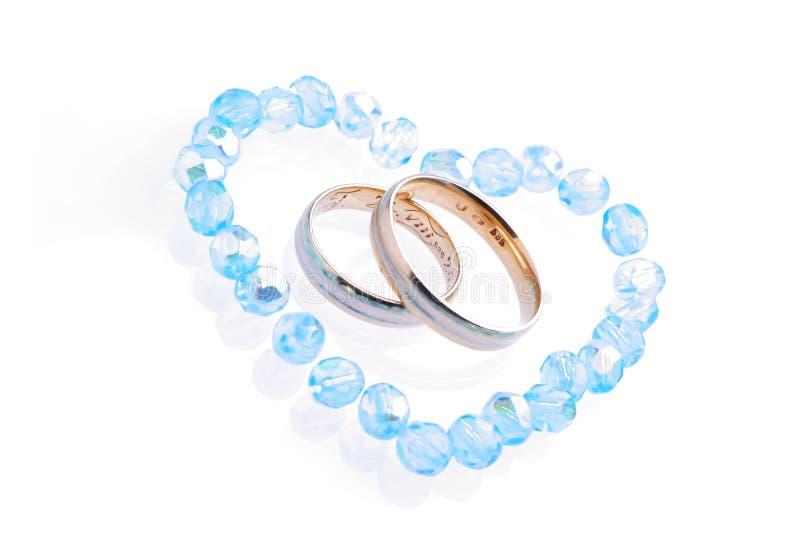 蓝色婚礼 免版税图库摄影