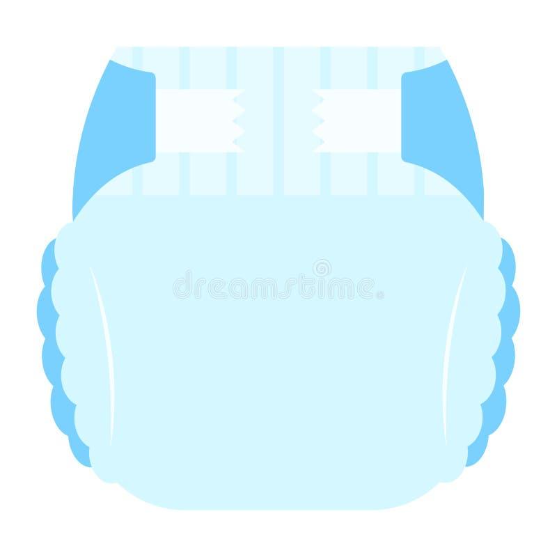 蓝色婴儿吸收剂尿布内裤象的传染媒介例证 皇族释放例证