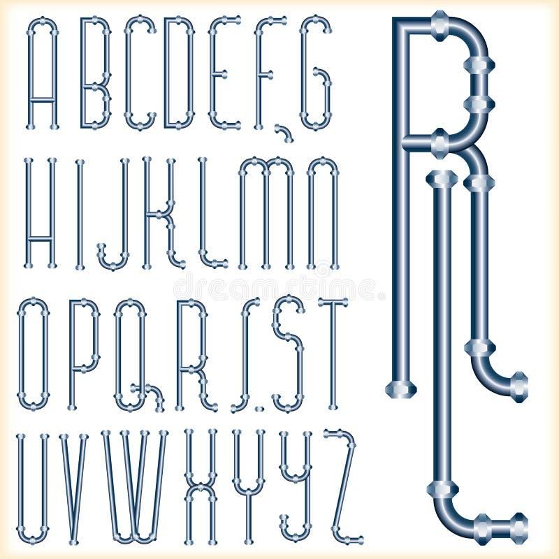 蓝色字体管 皇族释放例证