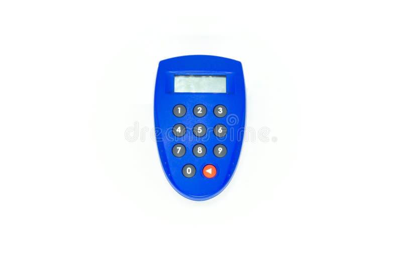 蓝色安全钥匙银行象征 库存图片