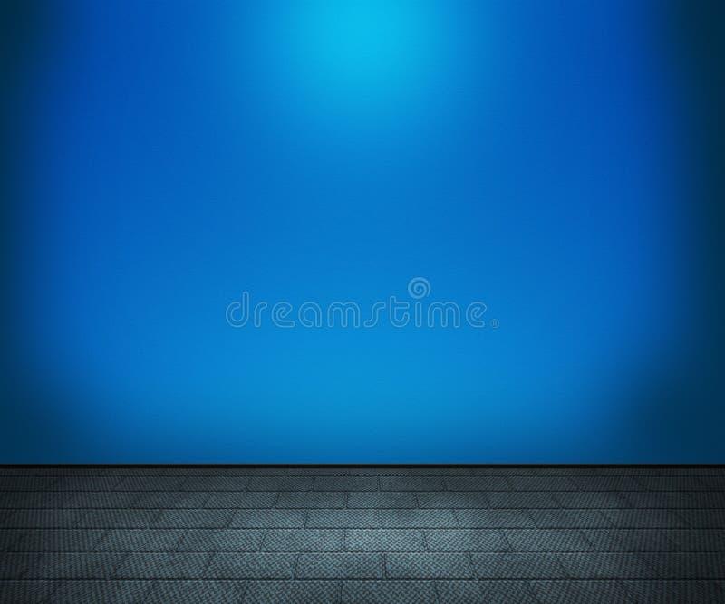 蓝色室背景 库存例证