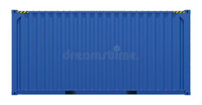 蓝色容器发运 免版税库存照片