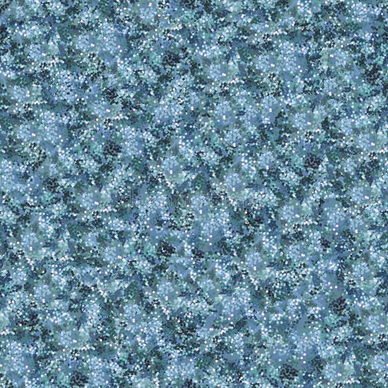 蓝色察觉了织地不很细背景 许多多色的小点 皇族释放例证