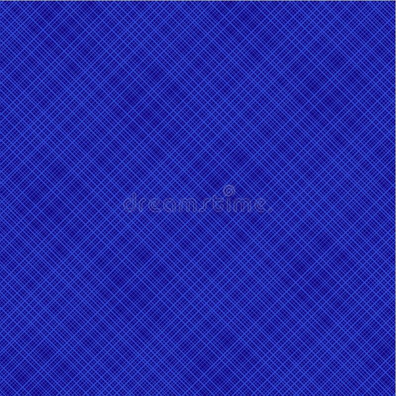 蓝色对角无缝织品包括的模式 皇族释放例证