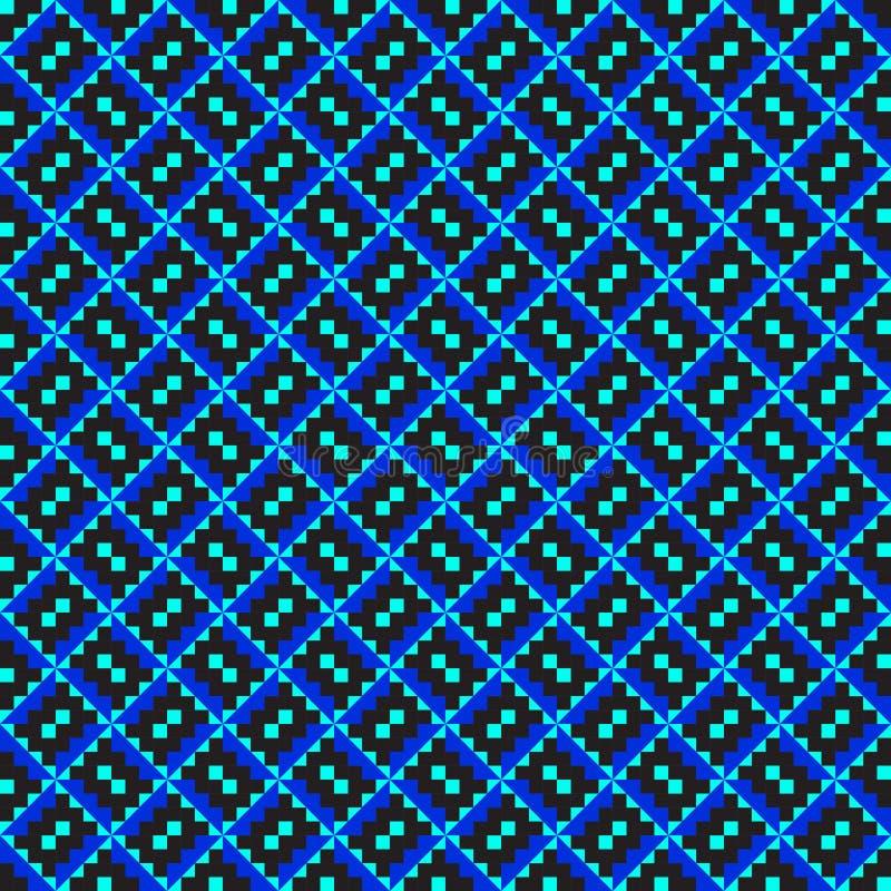 蓝色对角模式之字形 向量例证