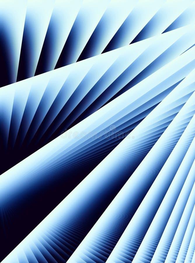 蓝色对角线路数据条 库存例证