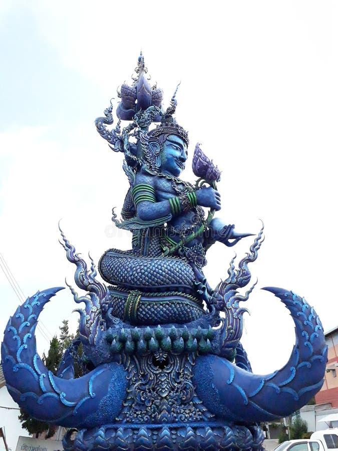 蓝色寺庙 免版税库存图片