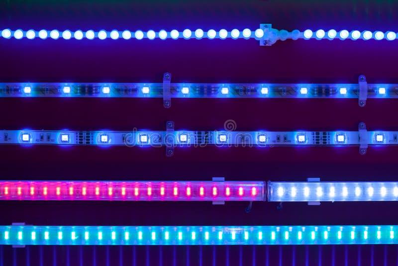 蓝色导致的光磁带 库存图片