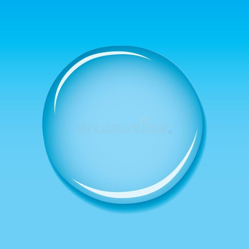 蓝色小滴水 向量例证