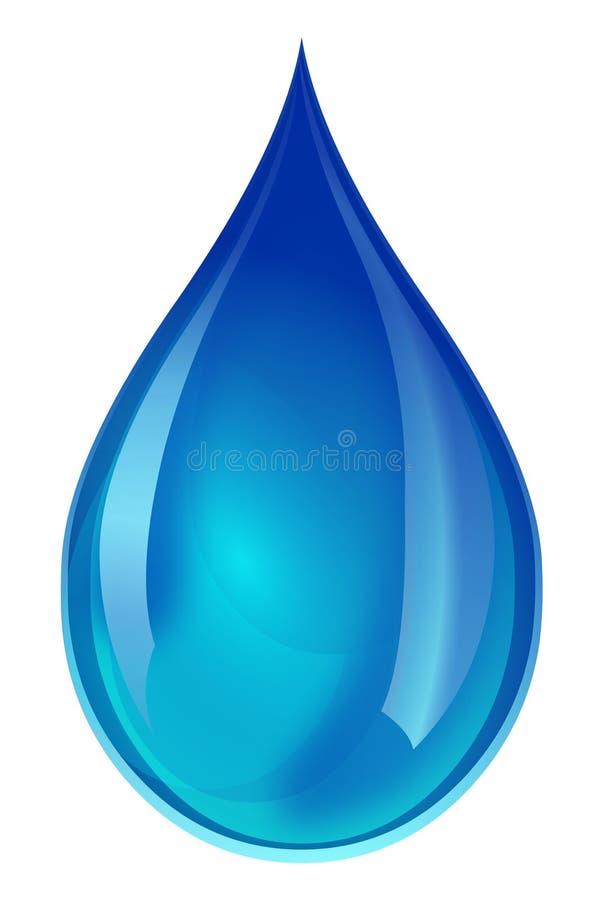 蓝色小滴水 皇族释放例证