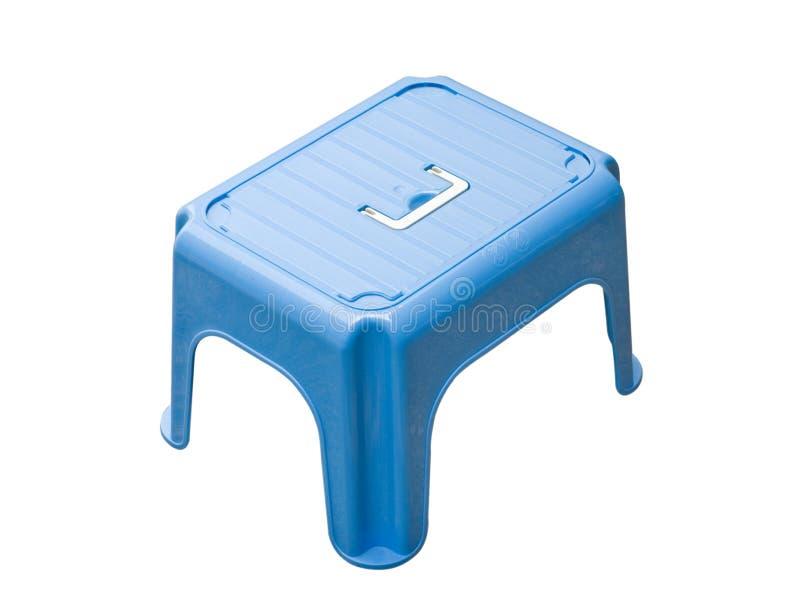 蓝色小的凳子 库存图片
