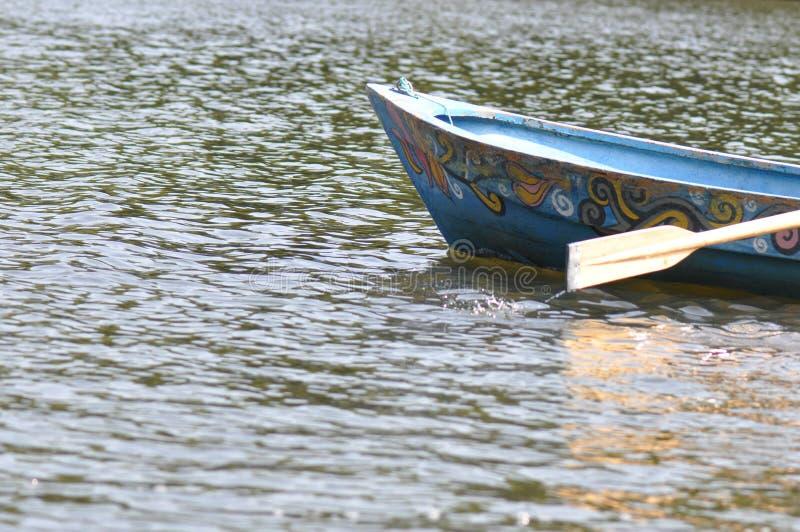 蓝色小船加勒比详细资料墨西哥水 库存图片