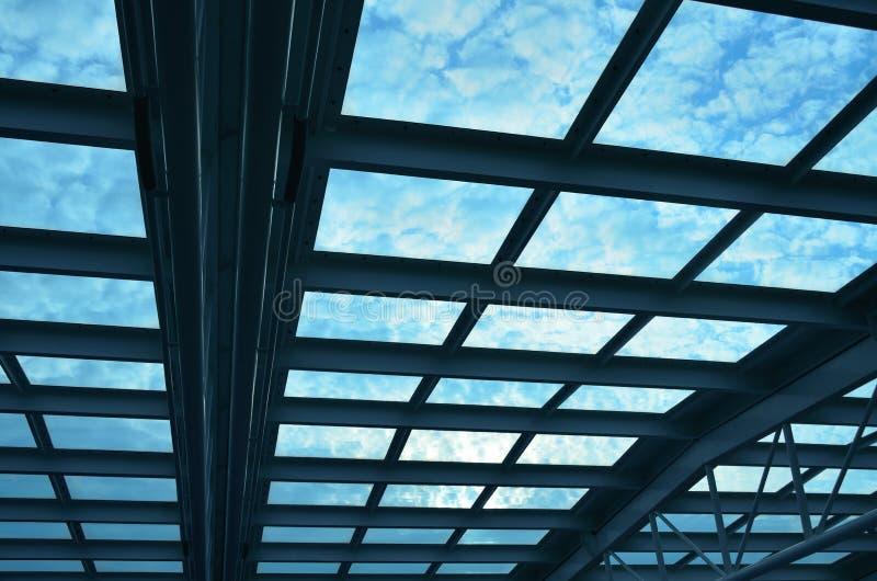 蓝色屋顶 免版税图库摄影