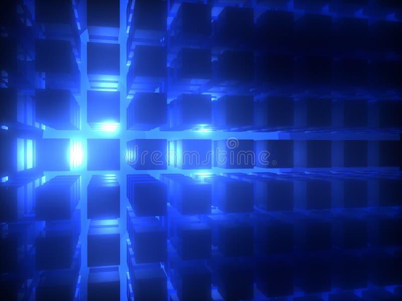 蓝色展开 库存照片