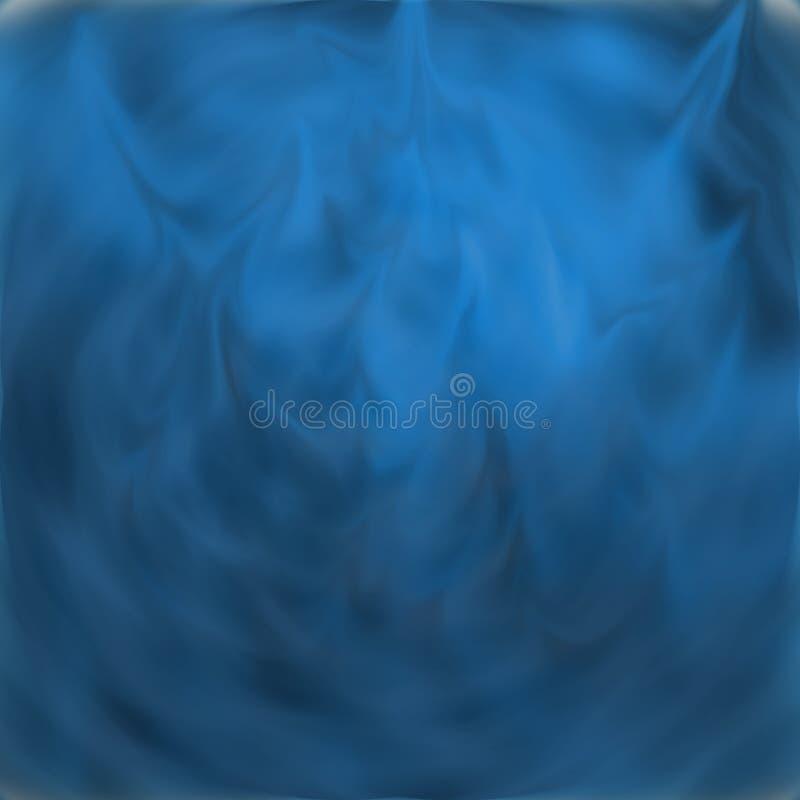 蓝色展开 库存例证