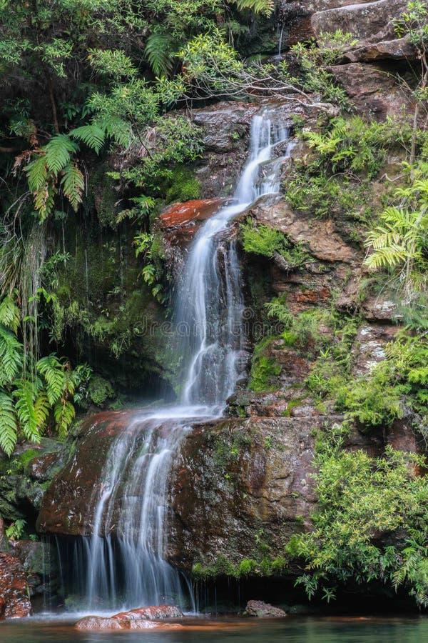 蓝色山瀑布 图库摄影