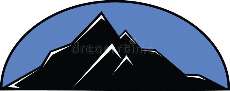 蓝色山 向量例证