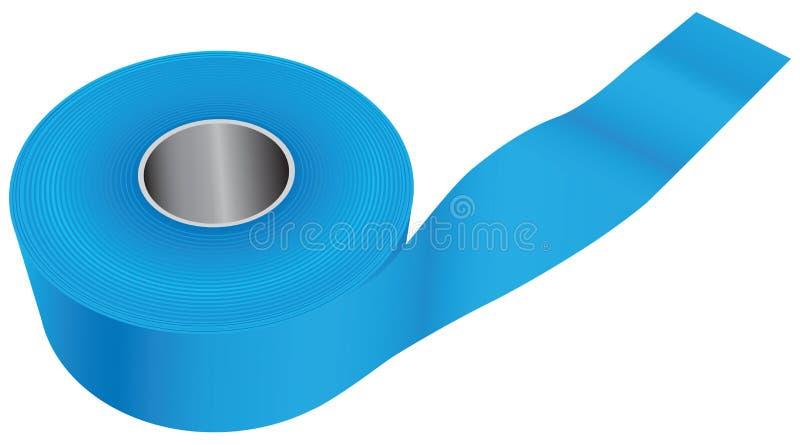 蓝色工业磁带 皇族释放例证