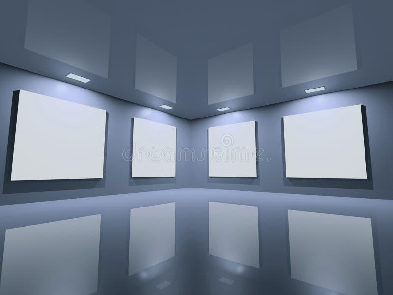 蓝色干净的画廊灰色网站 库存例证