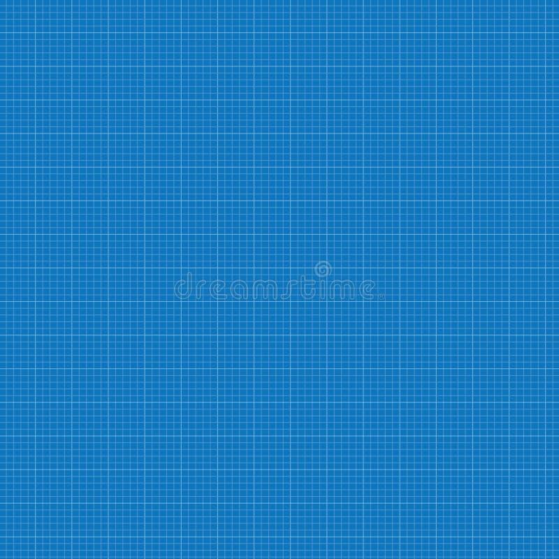 蓝色座标图纸栅格 库存例证