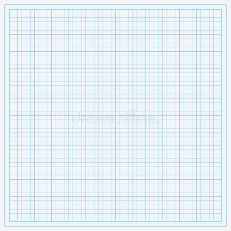 蓝色座标图纸 皇族释放例证