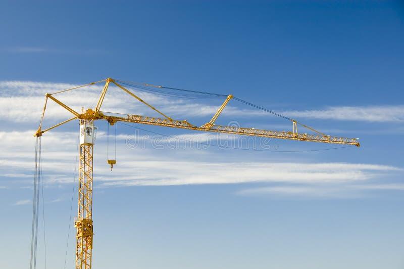 蓝色建筑用起重机天空 库存图片