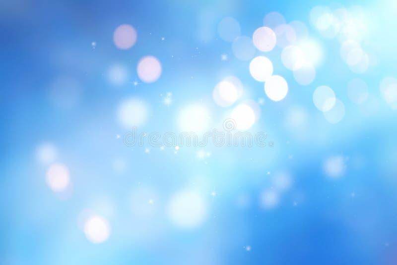 蓝色弄脏了光冬天背景,假日背景 向量例证